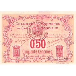 Caen / Honfleur - Pirot 34-12 - 50 centimes - Série A - 1915 - Etat : SUP+