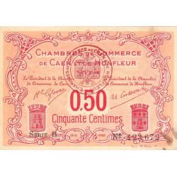 Caen / Honfleur - Pirot 34-12 - 50 centimes - Série B - 1915 - Etat : TTB