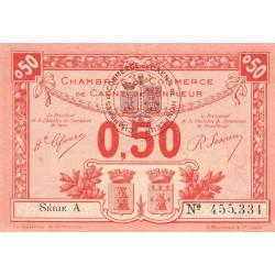 Caen / Honfleur - Pirot 34-16-A - 50 centimes - 1920 - Etat : SPL+