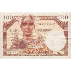 VF 34-01 - 100 francs - Trésor public - 1955 - Etat : TTB