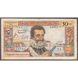 F 58-01 - 05/03/1959 - 50 nouv. francs - Henri IV - Etat : TB-