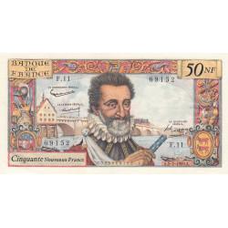 F 58-02 - 02/07/1959 - 50 nouv. francs - Henri IV - Série F.11 - Etat : SUP