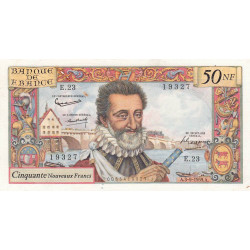 F 58-03 - 03/09/1959 - 50 nouv. francs - Henri IV - Etat : SUP