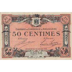 Angoulême - Pirot 9-9 - 50 centimes - 1915 - Etat : TTB-