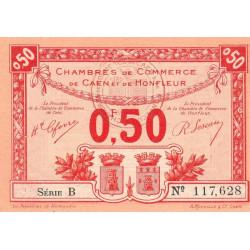 Caen / Honfleur - Pirot 34-16 - Série B - 50 centimes - 1920 - Etat : SPL