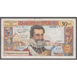 F 58-03 - 03/09/1959 - 50 nouv. francs - Henri IV - Etat : TB-