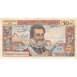 F 58-03 - 03/09/1959 - 50 nouv. francs - Henri IV - Série Q.30 - Etat : TB