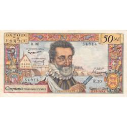 F 58-03 - 03/09/1959 - 50 nouv. francs - Henri IV - Série R.30 - Etat : TTB