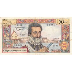 F 58-04 - 05/11/1959 - 50 nouv. francs - Henri IV - Série H.37 - Etat : TTB-
