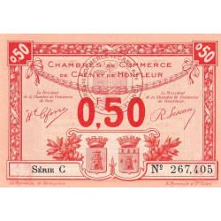 Caen / Honfleur - Pirot 34-16-C - 50 centimes - 1920 - Etat : SPL+