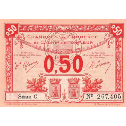 Caen / Honfleur - Pirot 34-16-C - 50 centimes - Etat : SPL+