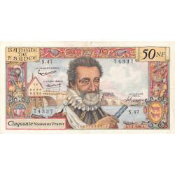 F 58-05 - 07/04/1960 - 50 nouv. francs - Henri IV - Série S.47 - Etat : TB+