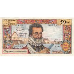 F 58-05 - 07/04/1960 - 50 nouv. francs - Henri IV - Série V.56 - Etat : TB+