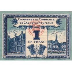 Caen / Honfleur - Pirot 34-18-A - 1 franc - 1920 - Etat : TTB+