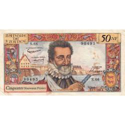 F 58-06 - 06/071961 - 50 nouv. francs - Henri IV - Série S.66 - Etat : TB