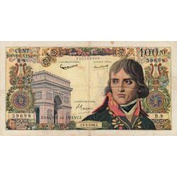 F 59-01 - 05/03/1959 - 100 nouv. francs - Bonaparte - Etat : TB+