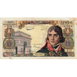 F 59-02 - 04/06/1959 - 100 nouv. francs - Bonaparte - Série K.12 - Etat : TB+