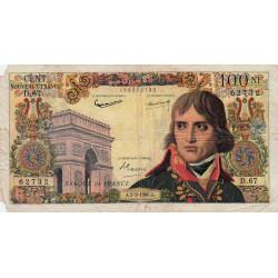 F 59-07 - 01/09/1960 - 100 nouv. francs - Bonaparte - Série D.67- Etat : B