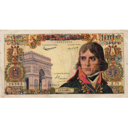 F 59-07 - 01/09/1960 - 100 nouv. francs - Bonaparte - Série Z.75 - Etat : TB