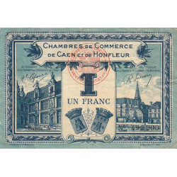 Caen / Honfleur - Pirot 34-18-A - 1 franc - 1920 - Etat : TTB