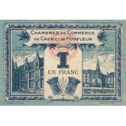 Caen / Honfleur - Pirot 34-18 - Série A - 1 franc - 1920 - Etat : TTB