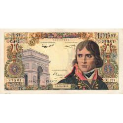 F 59-12 - 05/10/1961 - 100 nouv. francs - Bonaparte - Série X.137 - Etat : TB+