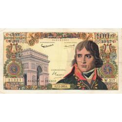 F 59-19 - 07/02/1963 - 100 nouv. francs - Bonaparte - Remplacement - Etat : TB+