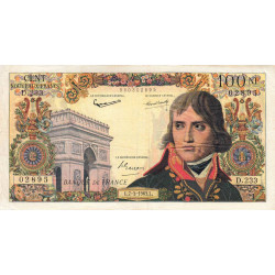 F 59-20 - 07/03/1963 - 100 nouv. francs - Bonaparte - Etat : TB+