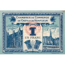 Caen / Honfleur - Pirot 34-18-C - 1 franc - 1920 - Etat : SUP+