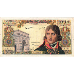 F 59-15 - 05/04/1962 - 100 nouv. francs - Bonaparte - Série D.163 - Etat : B