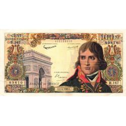 F 59-15 - 05/04/1962 - 100 nouv. francs - Bonaparte - Série B.167- Etat : TTB-