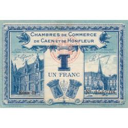 Caen / Honfleur - Pirot 34-18-D - 1 franc - 1920 - Etat : TTB