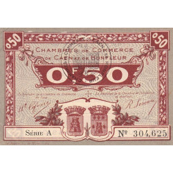 Caen / Honfleur - Pirot 34-20-A - 50 centimes - 1920 - Etat : SPL