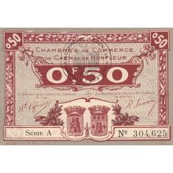 Caen / Honfleur - Pirot 34-20 - Série A - 50 centimes - 1920 - Etat : SPL