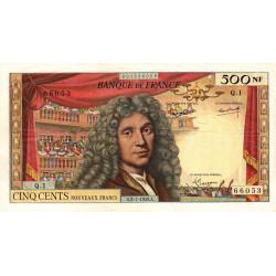 F 60-01 - 02/07/1959 - 500 nouv. francs - Molière - Série Q.1 - Etat : TB+