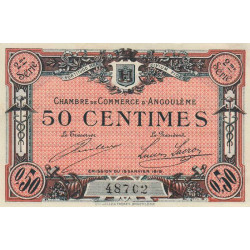 Angoulême - Pirot 9-9 - 50 centimes - 1915 - Etat : SPL