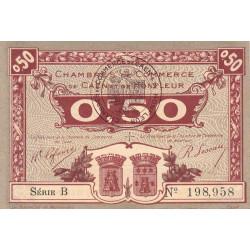Caen / Honfleur - Pirot 34-20-B - 50 centimes - 1920 - Etat : SPL+