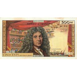 F 60-01 - 02/07/1959 - 500 nouv. francs - Molière - Série P.3 - Etat : TB+