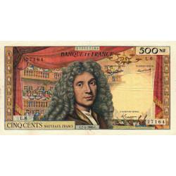F 60-02 - 07/04/1960 - 500 nouv. francs - Molière - Série L.6 - Etat : TB