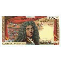 F 60-05 - 05/09/1963 - 500 nouv. francs - Molière - Etat : pr.SPL