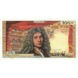 F 60-09 - 06/01/1966 - 500 nouv. francs - Molière - Série E.23 - Etat : TB