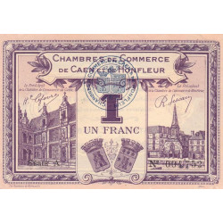Caen / Honfleur - Pirot 34-22-A - 1 franc - 1920 - Etat : SPL+
