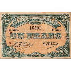 Périgueux - Pirot 98-8 - 1 franc - 2e série - 25/08/1914 - Etat : TB-
