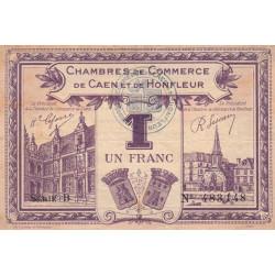 Caen / Honfleur - Pirot 34-22 - Série B - 1 franc - 1920 - Etat : TTB