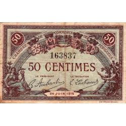 Périgueux - Pirot 98-16 variété - 50 centimes - 24/06/1916 - Etat : TB-