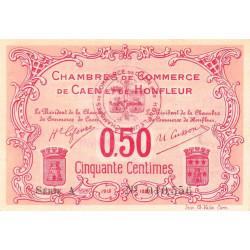 Caen / Honfleur - Pirot 34-12-A - 50 centimes - 1915 - Etat : SPL+