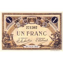 Périgueux - Pirot 98-18 variété - 1 franc - 24/06/1916 - Etat : NEUF