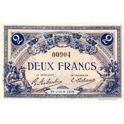 Périgueux - Pirot 98-20 variété - 2 francs - 24/06/1916 - Etat : NEUF
