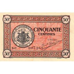 Péronne - Pirot 99-1 - 50 centimes - Série S.C. - 27/07/1920 - Etat : SUP+ à SPL