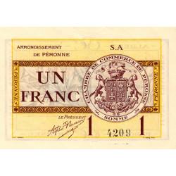 Péronne - Pirot 99-2a - 1 franc - Série S.A - 27/07/1920 - Etat : SPL